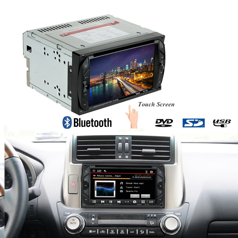 2 Din Car DVD Player 6.2 inch Bluetooth Auto Audio Radio 32G In-dash Stereo Video Car Audio Video Player Digital Touch Screen