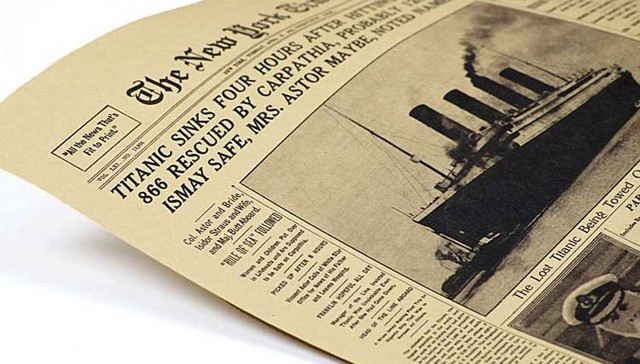 The New York times, the Titanic sank headlines, vintage Wall posters