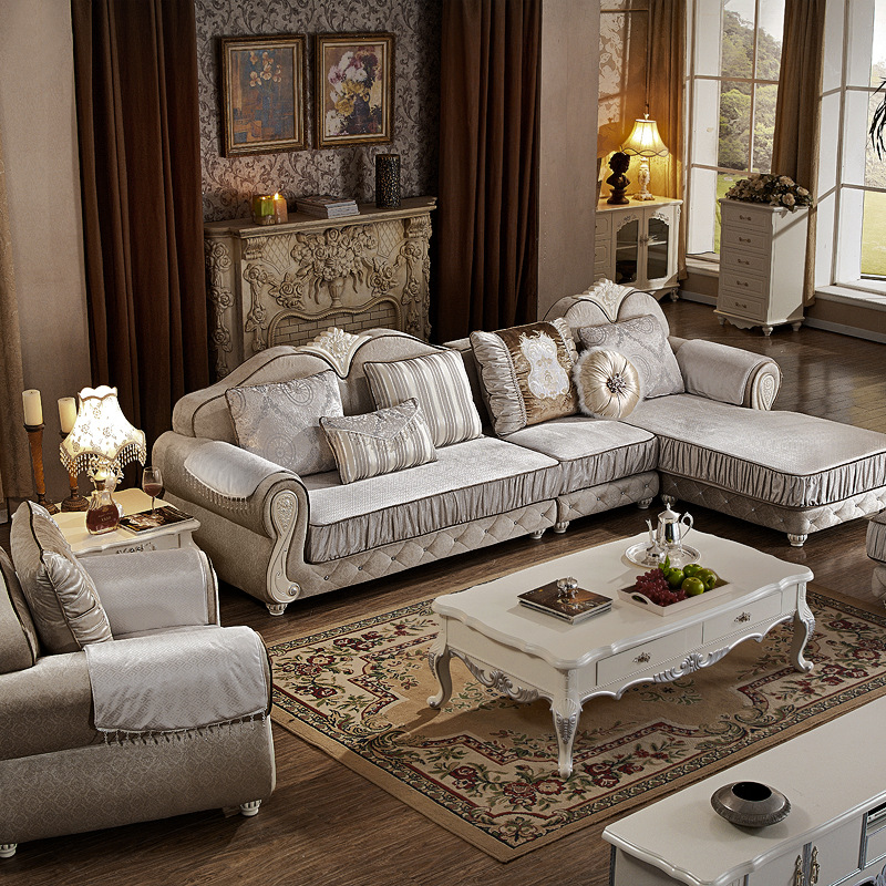 1 2 Sitz Lounge L Form Stoff Wohnzimmer Sofa Set Kombination