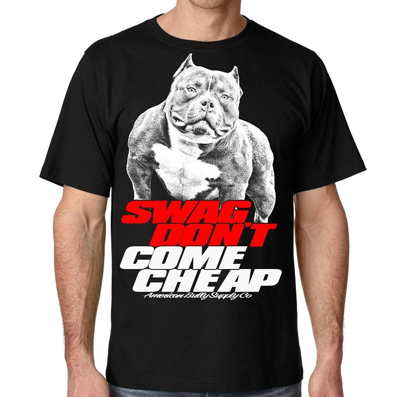 Американский хулигана сбытовая компания Для Мужчинs питбуль SWAG не приходят Дешевые футболка печати Повседневное футболка Для Мужчинs Футб...