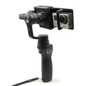 Image 4 - Soporte para Cámara de Acción GoPro Hero 6 5 4 3 soporte de adaptador de cardán de mano impreso 3D para DJI OSMO Mobile 2 1
