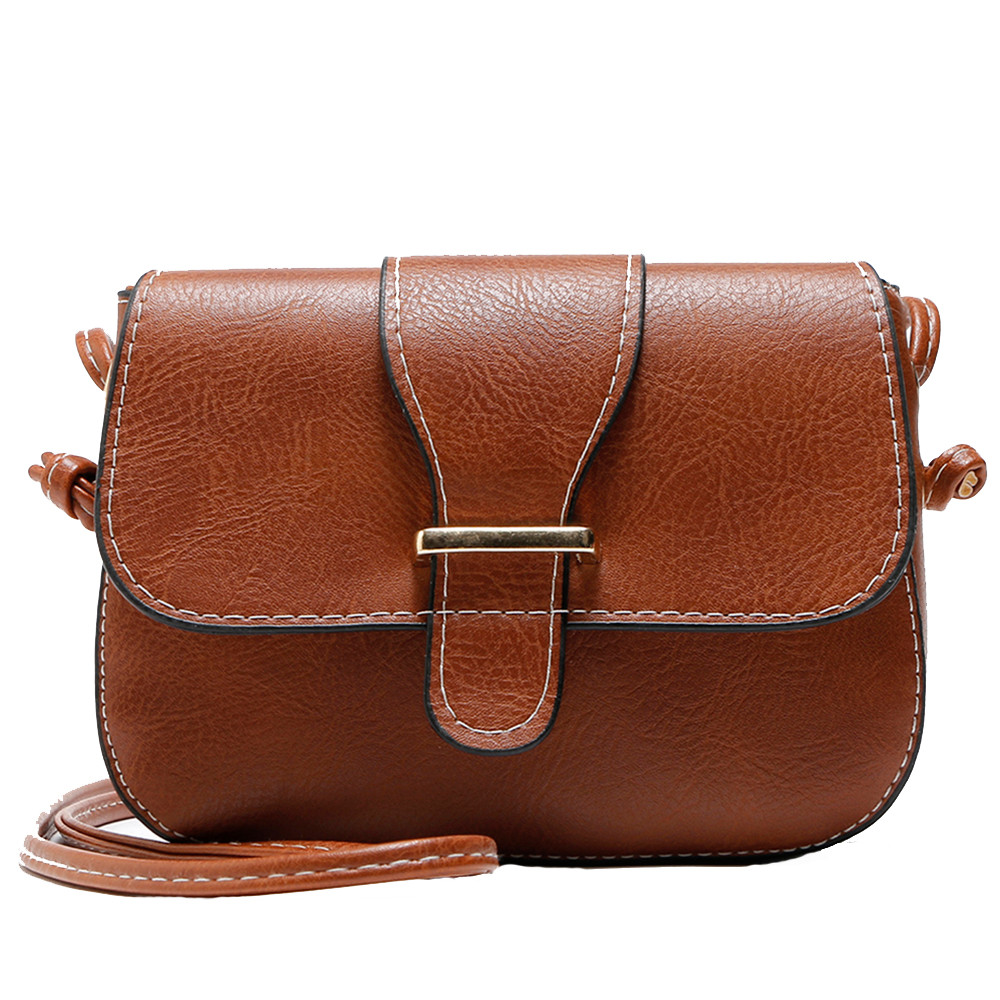 2018 Vintage PU Leather Women Bag Fashion Small Women Messenger Bag Single Strap Shoulder Bag Crossbody Bags