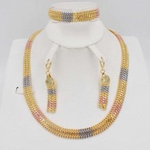 Dubai font b Gold b font Jewelry Sets Nigerian Wedding African Beads Crystal Bridal Jewellery Set