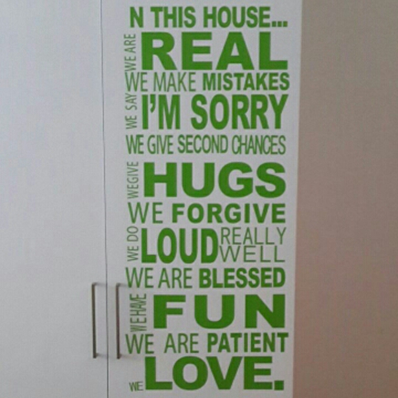 US $9.18 6% OFF|ebay hot selling free shipping family wall quotes