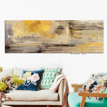 цена на wall decora Hand painted High Quality Modern Gold  Abstract Oil Painting Abstract Wall Painting on Canvas for Living Room Decor