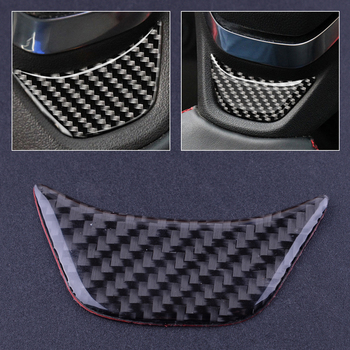 beler Car Steering Wheel Cover Trim Black Carbon Fiber Texture Styling Sticker Fit for Chevrolet Equinox 2017 Accessories image