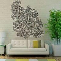 Mandalas Lotus Muurstickers Sticker Mehndi Vinyl Art Muurstickers Bloemen Patroon Verwijderbare Zelfklevende Behang Home Decor
