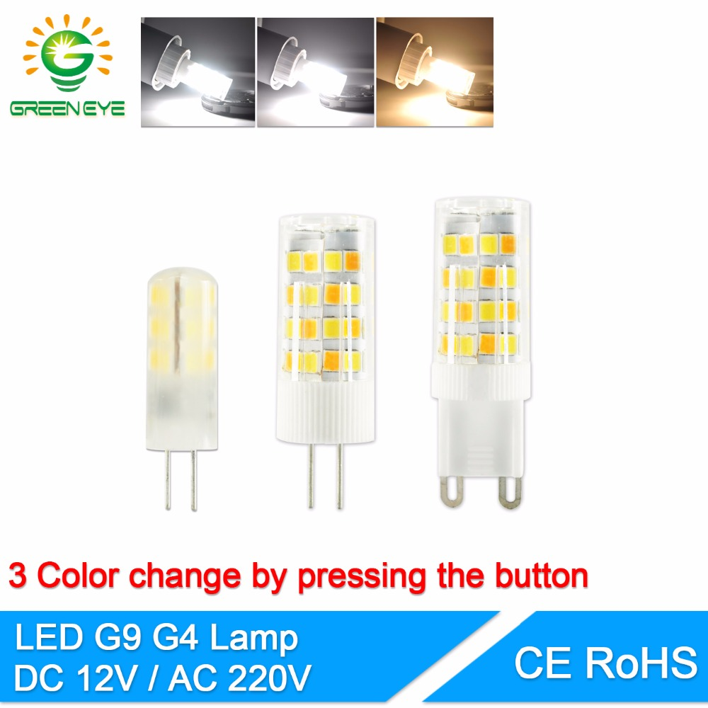G4 Led Lamp G9 LED Bulb 3W 6W 10W AC DC12V 220V Change Warm/cold/natural White 2835 SMD COB Led Spotlight Replace Halogen Lamp