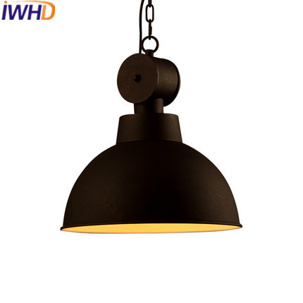 IWHD Industrial Vintage Lamp Pendant Light Fixtures Loft Style Retro Iron Hanging Lights Creative Lid Lamparas Home Lighting iwhd loft retro led pendant lights industrial vintage iron hanging lamp stair bar light fixture home lighting hanglamp lustre