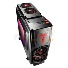 Game Computer case, with 120mm fan *5, 7 PCI slots, USB3.0, Free Tools, gameing case gamer computer, Game Titans Blade3