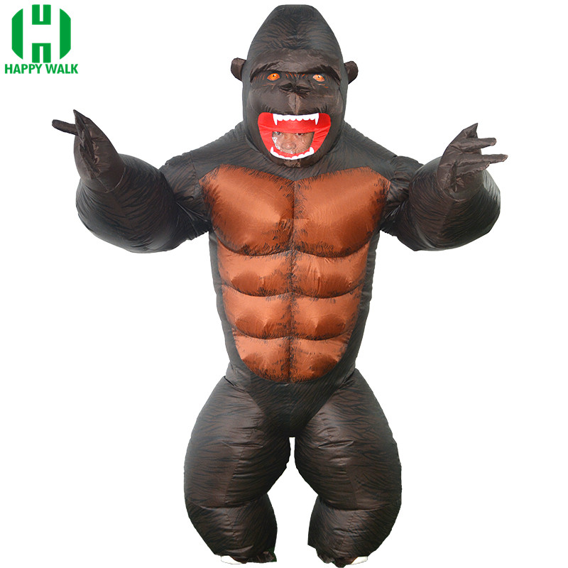 Purim Party Adult Kid Monkey Inflatable Costume King Kong Halloween Venice Carnival Dress suit orangutan For Women Men Costume