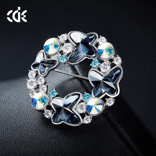 2019 Neue Schmetterling Brosche Pin Frauen Der Europäischen Und Amerikanischen Kristall Element Brosche