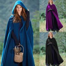 Новое поступление Женское пальто с капюшоном плащ для костюмированной