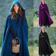 цены на New Arrival Women Hooded Coat Hooded Cloak Hooded Cape cosplay Cloak medieval costumes adult costume dress up  в интернет-магазинах