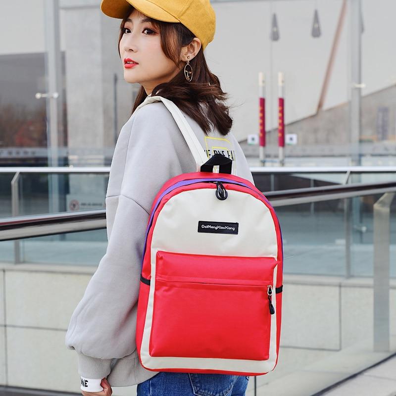 2018 toile plaine japon Style minimalisme meilleur sac à dos pour adolescente femme nouveau voyage loisirs femmes sac à dos sac à bandoulière - 2