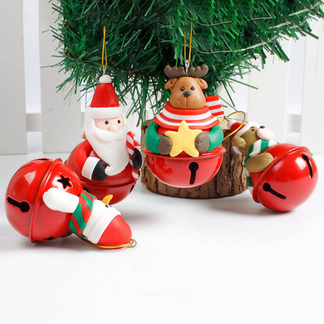 christmas decorations jingle bells christmas tree bell ornaments santa claus natal bell snowman doll christmas bauble