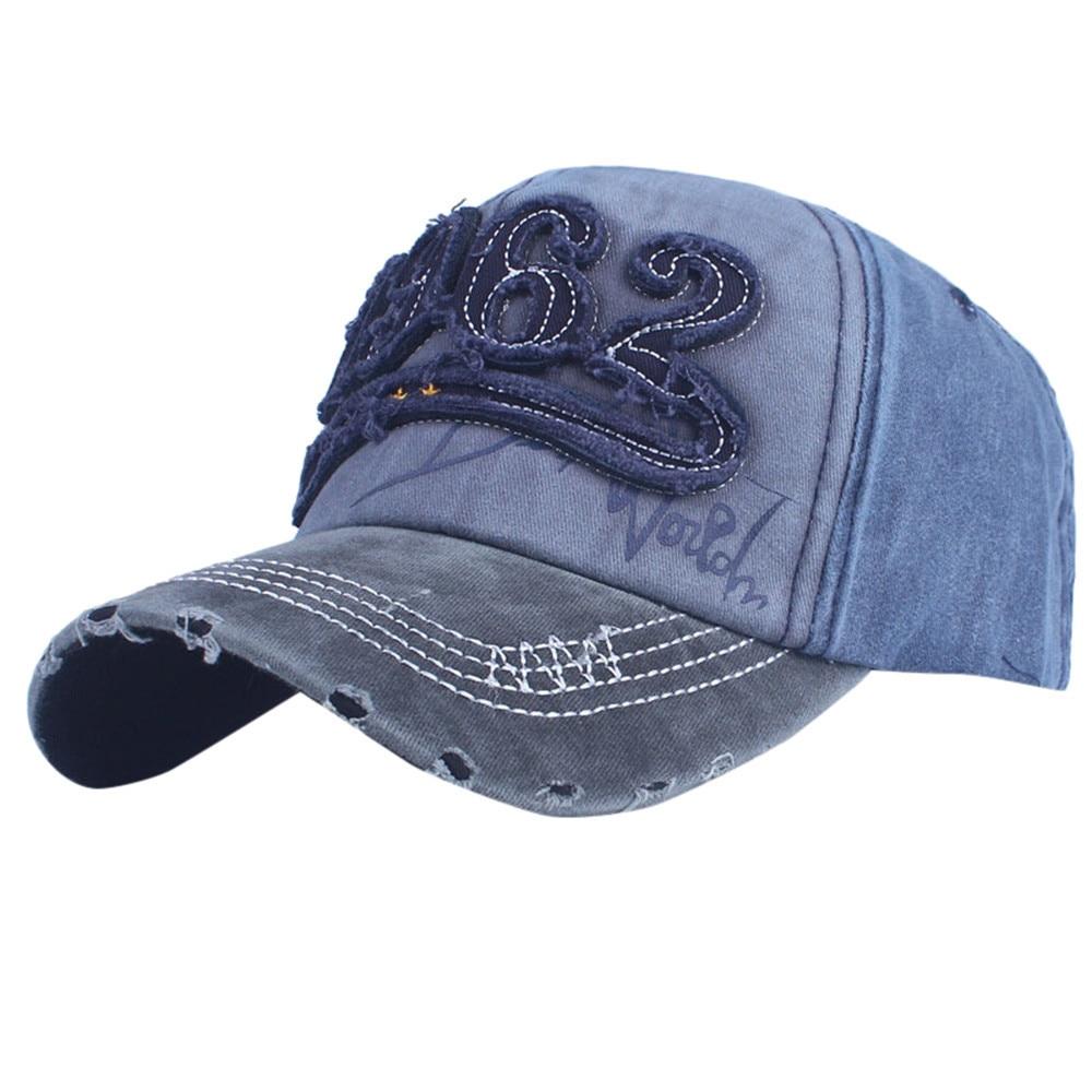 Cap Fashion Baseball Cap Topee Cap Hat Women Embroidered Flower Denim Feitong 2020 woman