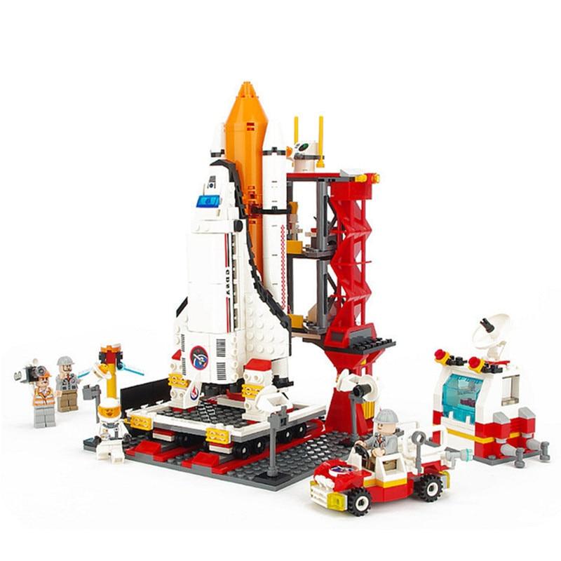 City series The Shuttle Launch Center Figures Building Blocks Set Enlighten Bricks Educational Toys For Children