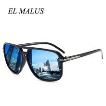 0f02e96c9882 [EL MALUS]Big Polarized Sun glasses Mens Square Frame Metal Leg Night  Vision Lens