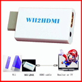 Free Shipping Hot Sale New White Wii to HDMI Wii2HDMI Adapter Converter Full HD 1080P Output Upscaling + 3.5mm Audio Box