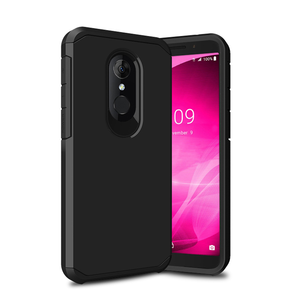 2 In 1 Slim Fit Hybrid Armor Case Anti Drop Impact Protective Soft TPU & Hard Back Cover For Alcatel 3 / T-Mobile Revvl 2 5052W