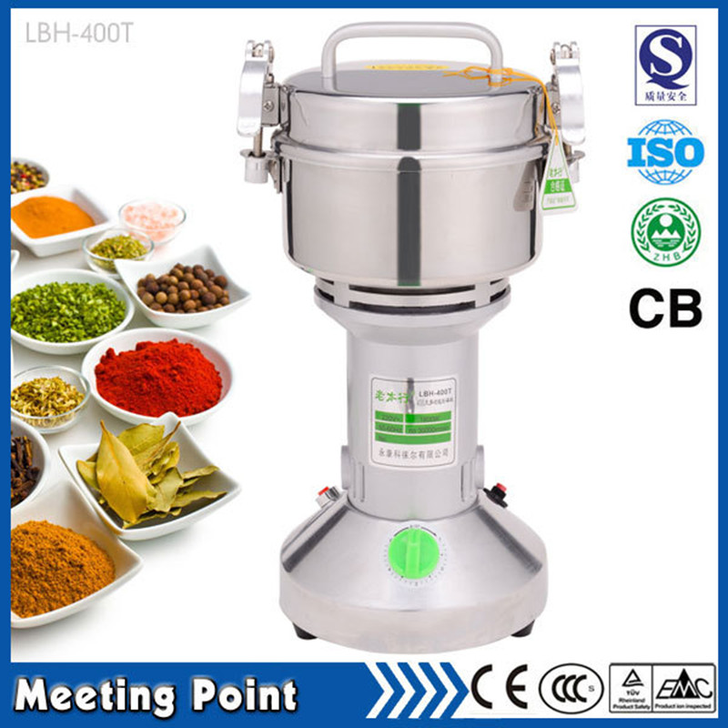 on sale 400g household stainless steel electric food grinder powder machine ultrafine mill small Chinese herbs powder grinder 500 g swing stainless steel electric medicine grinder mill small ultrafine powder machine