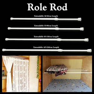 Curtain-Rods Rail-Pole Extendable Shower Bathroom Tension Voile Multifunctional High-Carbon-Steel