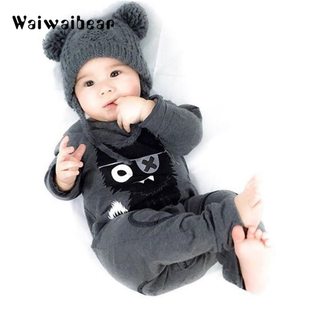 bda15bf29fb9 Autumn New Toddler Romper Newborn Baby Warm Infant Rompers Striped ...