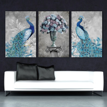 все цены на Art wall picture abstract print and poster picture Modern wall Peacock Poster Canvas Painting decor prints on canvas wall art онлайн