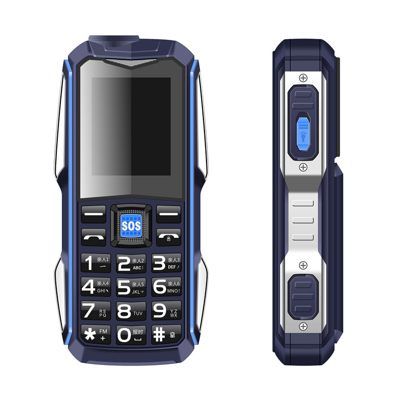 H-Mobile GSM New Flashlight Telephone Power-Bank Russian-Keyboard Shockproof Sound Magic Voice