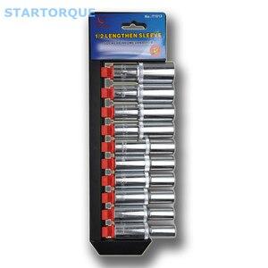 STARTORQUE 10 шт. 1/2 дюйма Трещоточный ключ комплект хромированная сталь длинный торцевой ключ гаечный ключ удлинитель