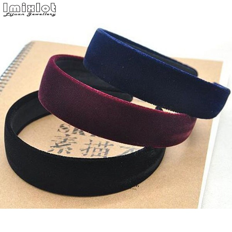 Apparel Accessories Girl's Hair Accessories Original 20pcs Black Color Girl Lady Pleuche Hair Hoop Hair Band Velvet Covered Basic Headbands Headwear Hair Accessories Fj3132 Online Shop
