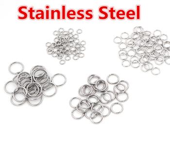 200pcs/Lot 3/4/5/6/7/8/10mm Metal DIY Jewelry Findings Open Single Loops Jump Rings & Split Ring for jewelry making