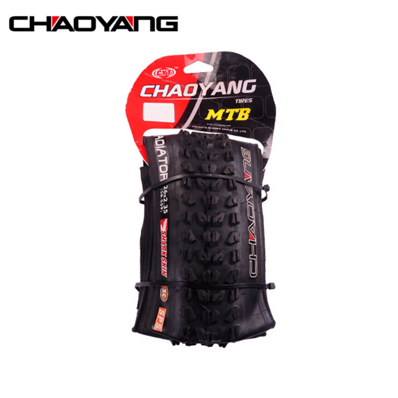 CHAOYANG H-5136 Gladiators Foldable Folding Mountain Bike Tyre Bicycle Collapsible MTB Tire 26*2.35 Cycling Bicycle Tyres rockbros titanium ti pedal spindle axle quick release for brompton folding bike bicycle bike parts