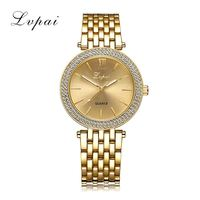 Lvpai Brand Women Gold Bracelet Watch Luxury Rhinestone Dress Fashion Sport Wristwatch Ladies Dress Business Quartz
