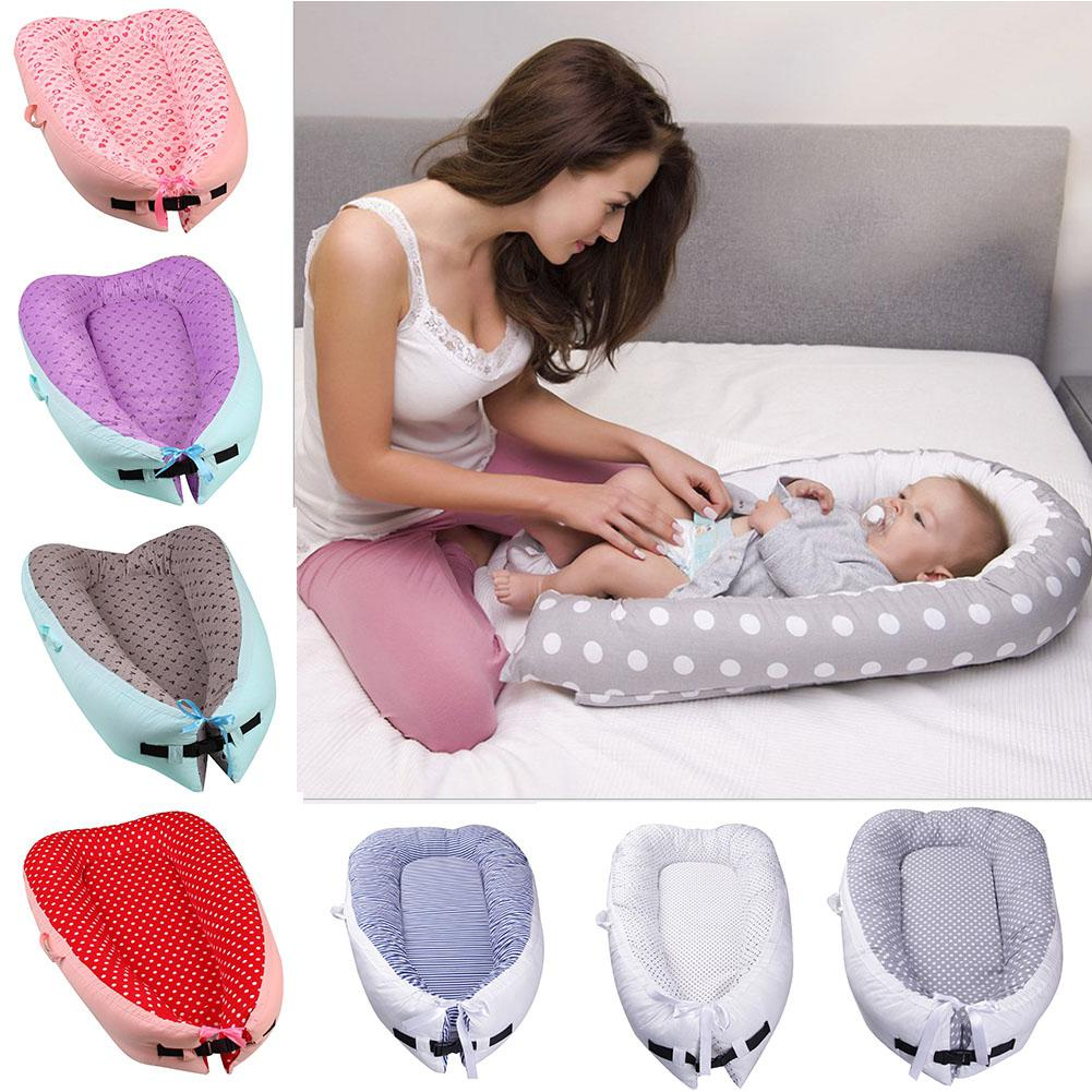 Kidlove Multifunction Baby Nest Bed Cute Pattern Printing Removable Washable Baby Infants Sleeping Bed Travel Bed