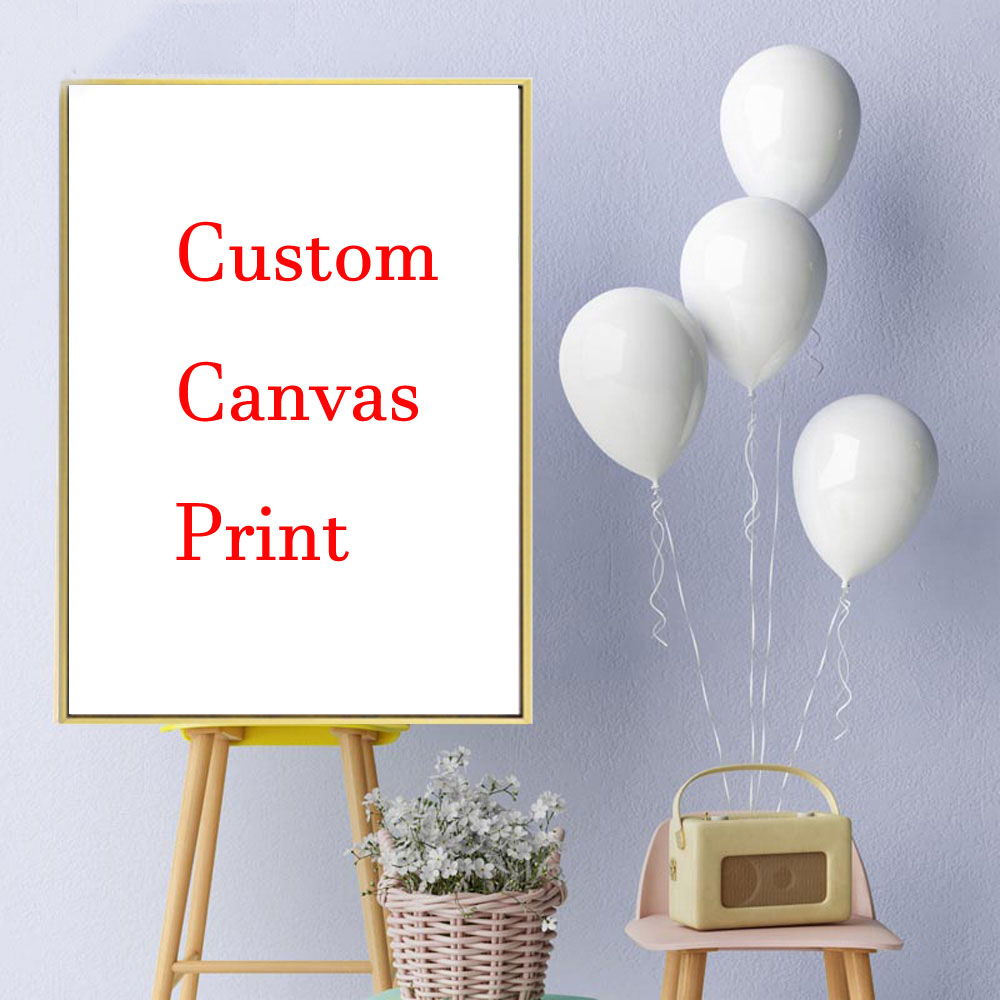 TaaWaa Custom Prints Silk Poster Your Photo Favorite Picture Family Baby Painting Customized For Your Room Home Wall Decoration