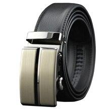 Genuine Leather Belts For Men Automatic Male Belts Cummerbunds Leather Belt Men dropshipping Black Belts 110cm-150cm цена