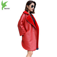 2018 High Quality Wool Double Faced Fur Coats Women Winter Wool Fur Outerwear Two Sides Can