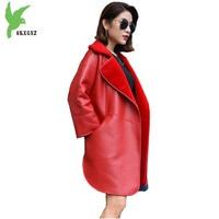 2018 High Quality Wool Double faced Fur Coats Women Winter Wool Fur Outerwear Two sides can wear Leather Jacket Coats OKXGNZ1499