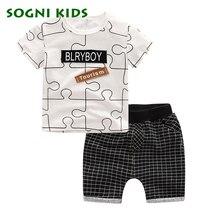 SOGNI ENFANTS D'été Bébé Garçon Vêtements Enfants À Manches Courtes t-shirt + shorts 2 pcs Set lettre motif garçons vêtements vêtements pour enfants ensemble
