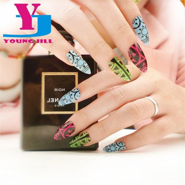 falsche ngel schnheit frauen favoriten muster arbeiten acryl geflschte nagel spitze volldeckung nagel kunst tipps - Gel Fingernagel Muster