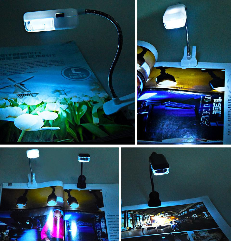 LED Book Light Mini Clip-On Flexible Bright Reading Lamp For Travel Bedroom Christmas New Year Children Baby Gift Night Lighting (9)