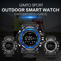 GIMTO Top Brand Military Outdoor Sport Smart Watch Men Waterproof Diving LED Silicone Electronic Bluetooth Barometer