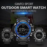 36f7e7742 ... Smart Watch Men Waterproof Diving LED Silicone Electronic Bluetooth  Barometer. GIMTO marca Superior Militar deporte al aire libre reloj  inteligente ...