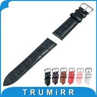 18mm 20mm 22mm Genuíno Relógio De Couro Banda para Rolex Pulseira Strap Correia de Pulso Pulseira Marrom Preto Vermelho rosa Branca