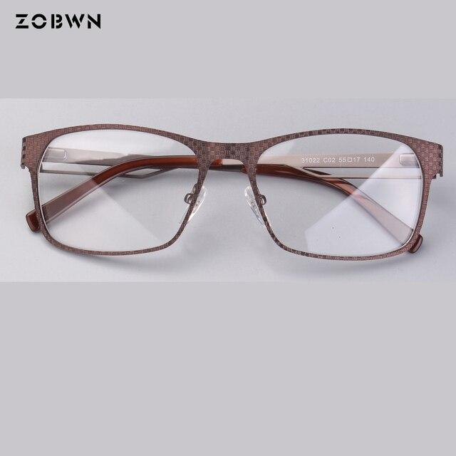 5680a97936c ZOBWN classic middle aged business man Optical Glasses Glasses frame Men  gafas squre frames big size