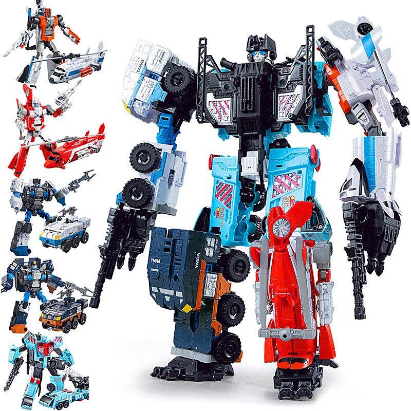 [Promotion] Action figure Defensor Giant War 5In1 Combined Alloy Oversize PATRON SAINT Deformation TF Robot FigureToys костюм patron антимоскит