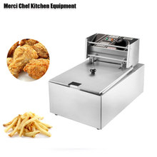 Household And Commercial 8L Electric DEEP FRYER Frying Machine household And Commerical Suit Food Machine CE Stainless Steel ce 2 tanks 16l electric deep fryer stainless steel frying machine commercial or household fryer