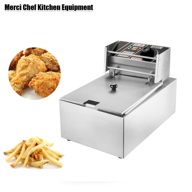 Household And Commercial 8L Electric DEEP FRYER Frying Machine household And Commerical Suit Food Machine CE Stainless Steel